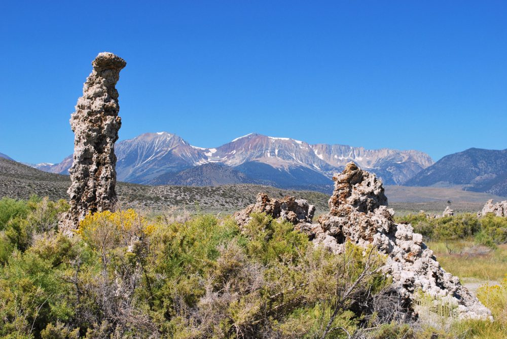 Tufa towers and the Sierra Mountains