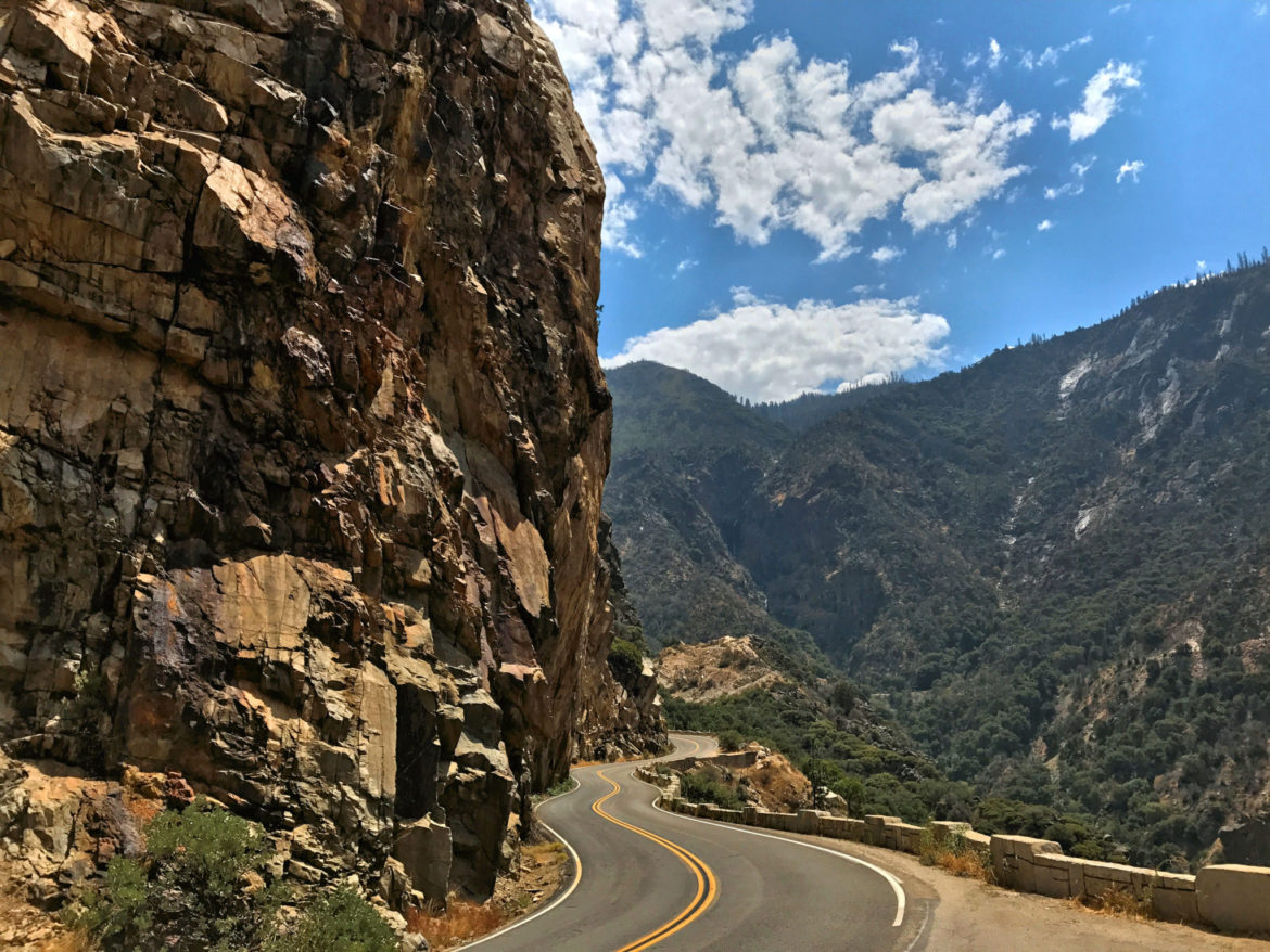 View from the drive on Kings Canyon Scenic Byway