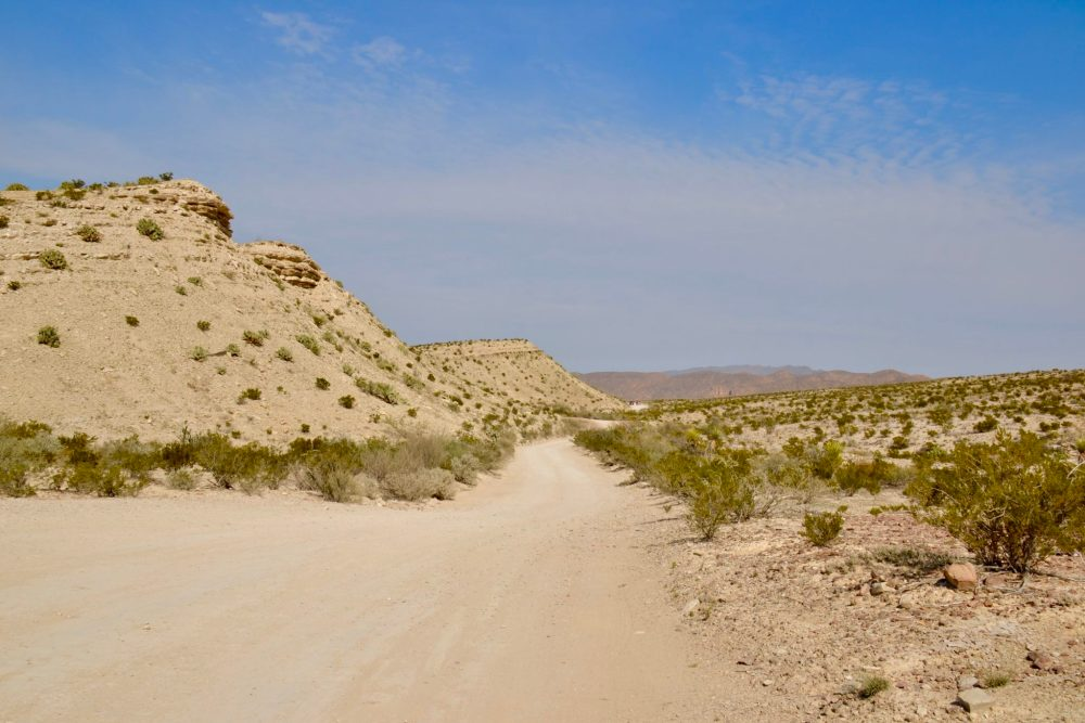 The road to Hot Springs in Big Bend National Park