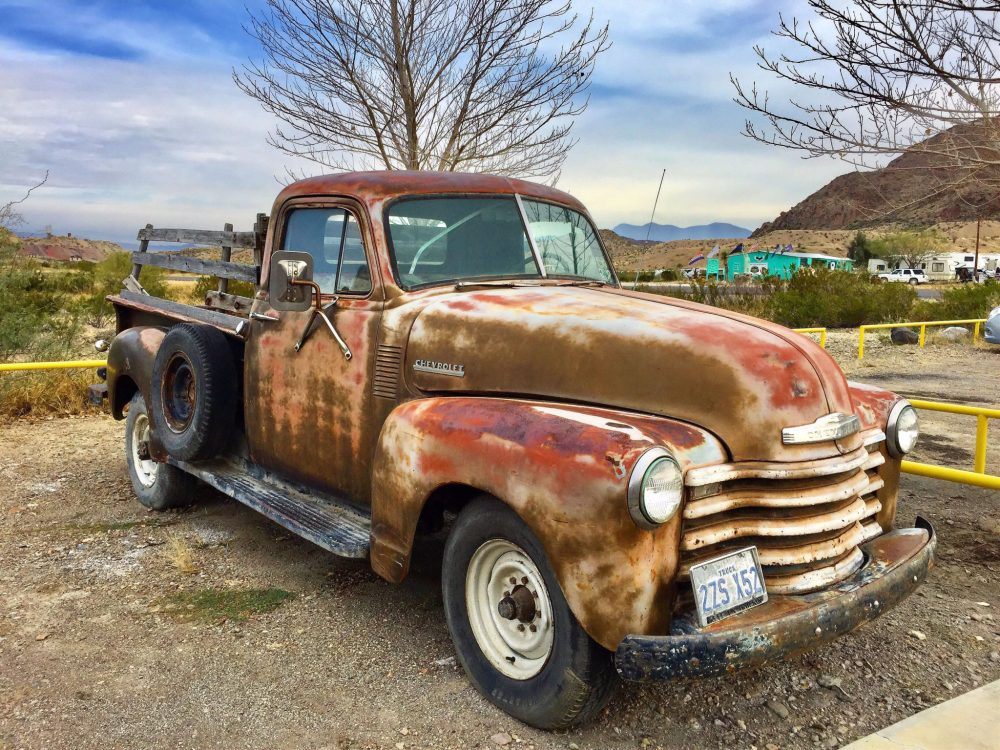 Old and rusty Chevrolet truck
