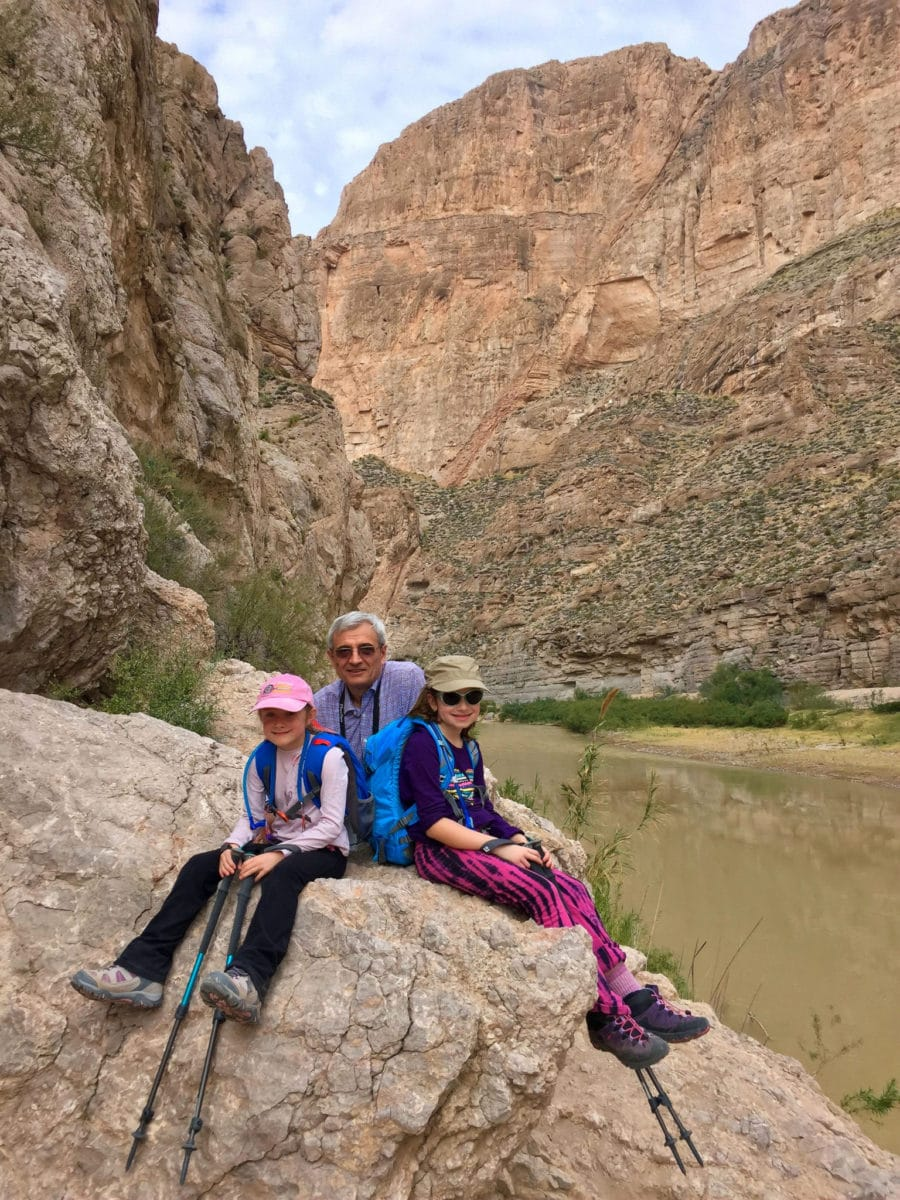 Sitting on a rock at the end of Boquillas Canyon Trail