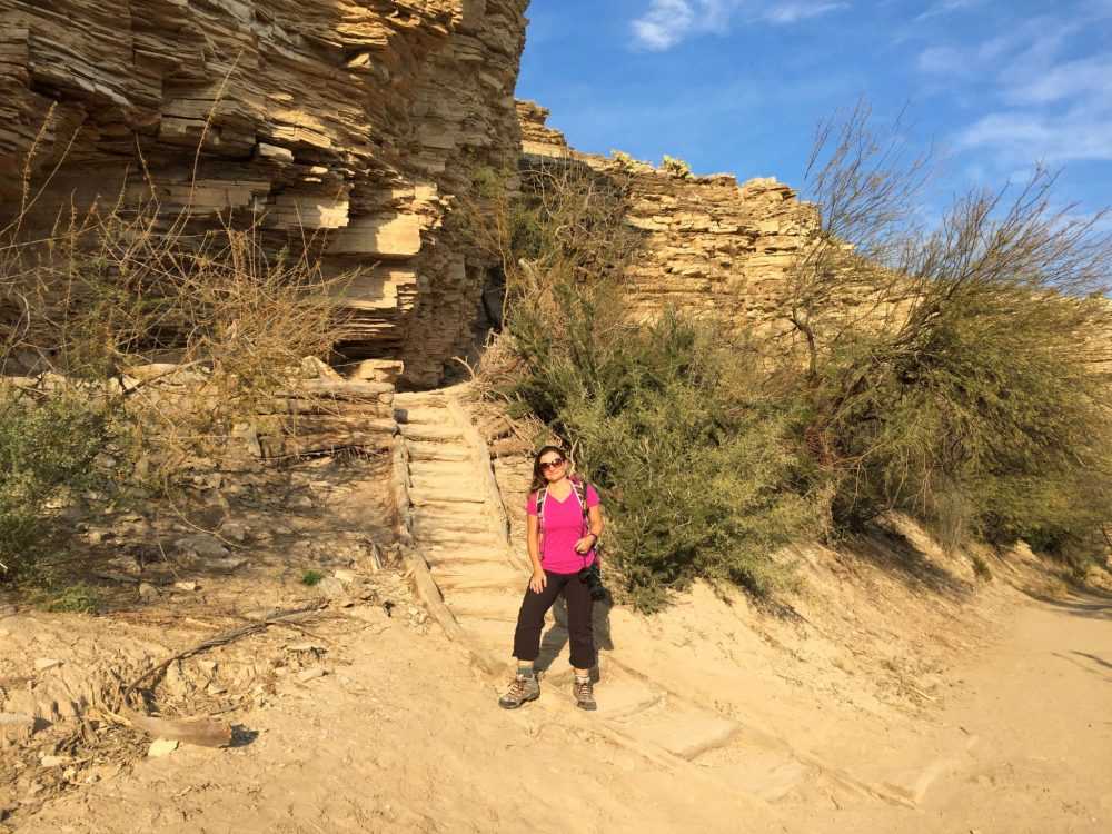 Me on Hot Springs Historic Trail in Big Bend