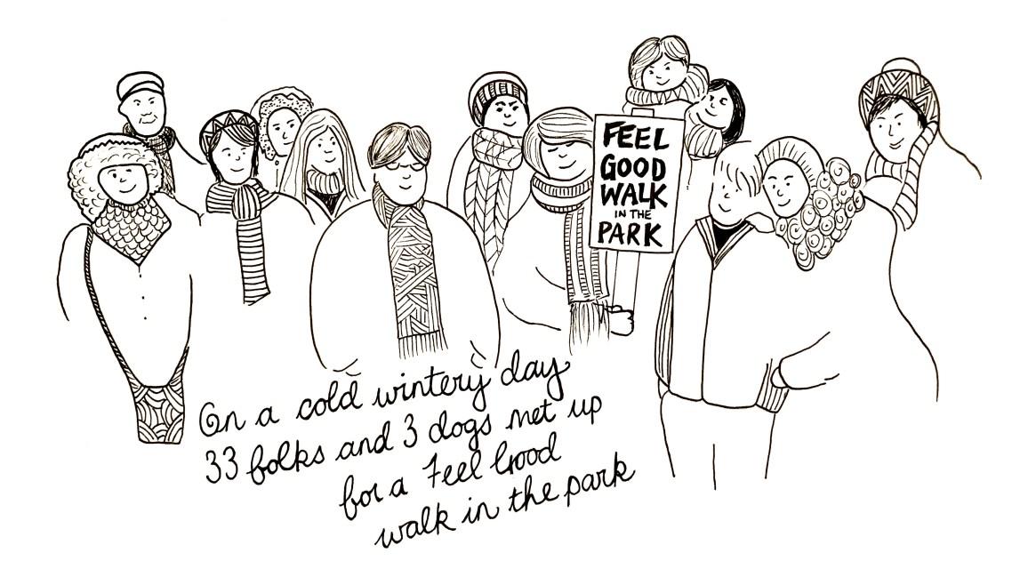 Feel Good Walk Doodle