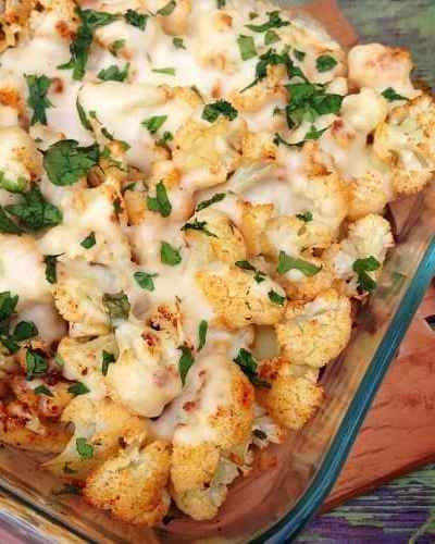 This cheesy Oven-Roasted Cauliflower Au Gratin recipe is a take on the classic potato dish - perfect side dish that goes well with seared lamb or steak.