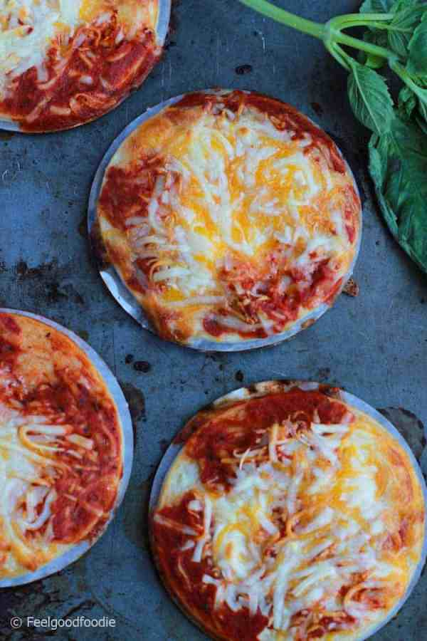 Delicious Pizza You can Feel Good About Eating with a crust that's stuffed with all-natural chicken breast - gluten free, high in protein and low in sugar!