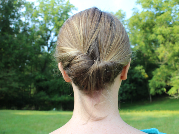 An up-do so easy that anyone can do it!  The Gibson Tuck