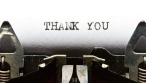 Thank You image via Shutterstock