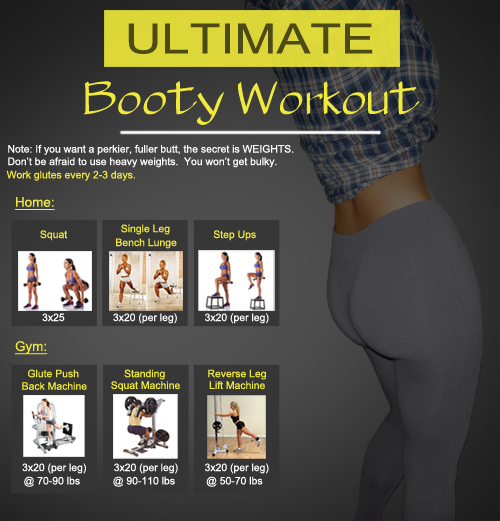 Glute Exercises for Bigger Booty