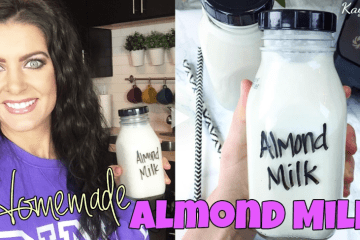 How to make homemade almond nut milk