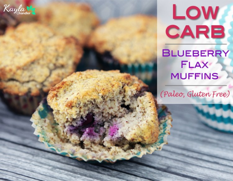 Low Carb Blueberry Flax Breakfast Muffins