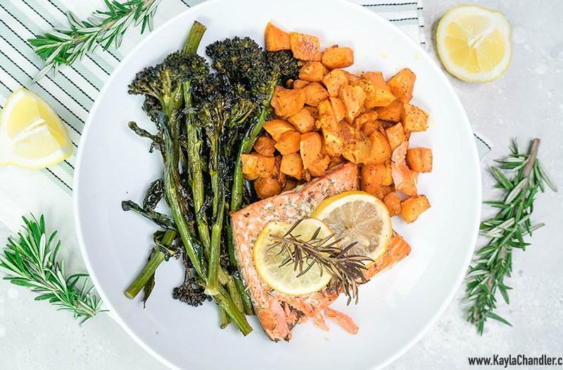 Easy Salmon Sheet Pan Dinner | 10-Minute Dinner Recipe