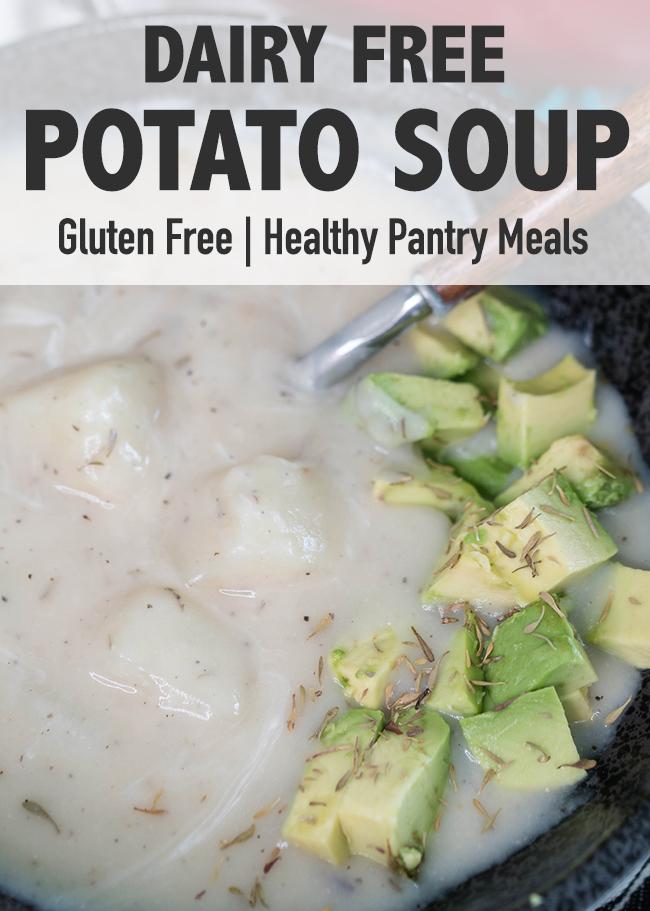 Dairy Free Creamy Potato Soup Recipe   Gluten free potato soup