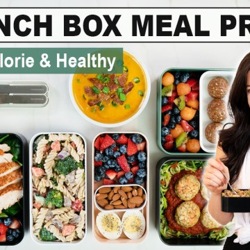 HEALTHY MEAL PREP | 5 Make-Ahead Healthy Lunch Box Ideas for Work or School