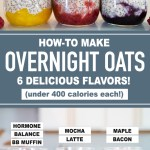 EASY OVERNIGHT OATS (under 400 calories!) | Healthy Breakfast Ideas for Meal Prep