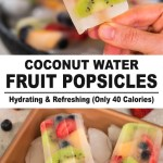 Refreshing Coconut Water Fruit Popsicles | Low Calorie Healthy Snack