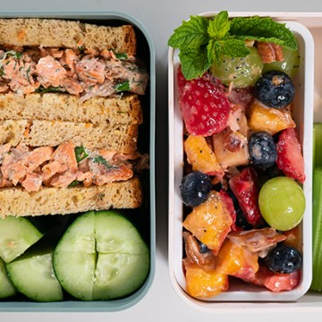 CREAMY SALMON SALAD   Healthy Lunch Ideas for Meal Prep