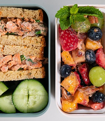 CREAMY SALMON SALAD | Healthy Lunch Ideas for Meal Prep