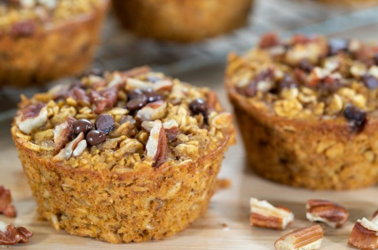 PUMPKIN SPICE BAKED OATMEAL MUFFIN CUPS | gluten free & dairy free