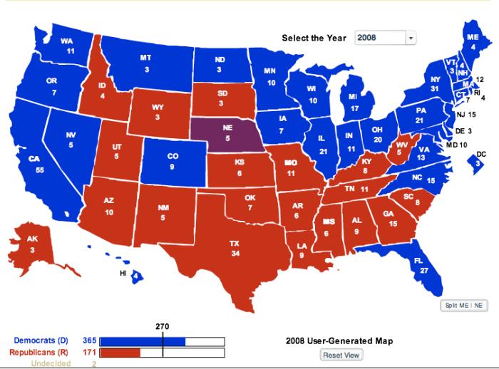 Current Electoral Map