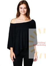LeggingsQueen Women's Basic Short Sleeve Kimono Modal Top