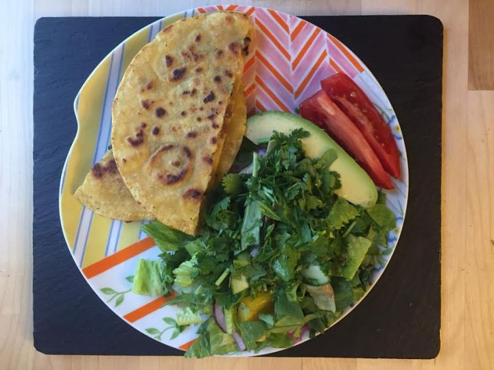 cauliflower quesadilla