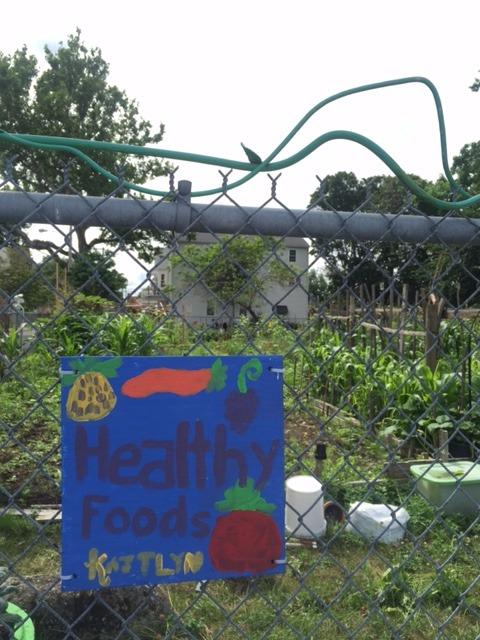 comm garden sign