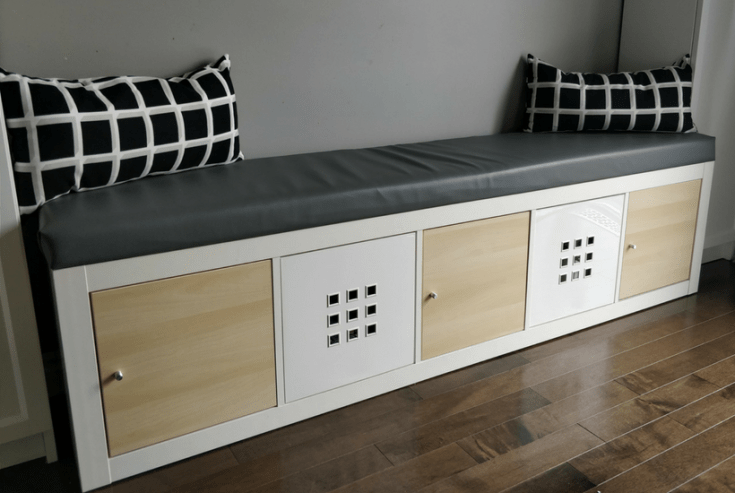 Ikea Kallax Hack Turn Bookshelf Into A Seating Bench With Storage