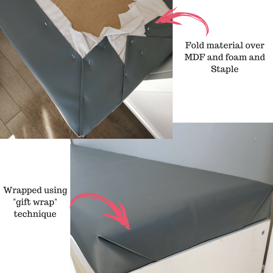 DIY seating banquette bench upholstering bench
