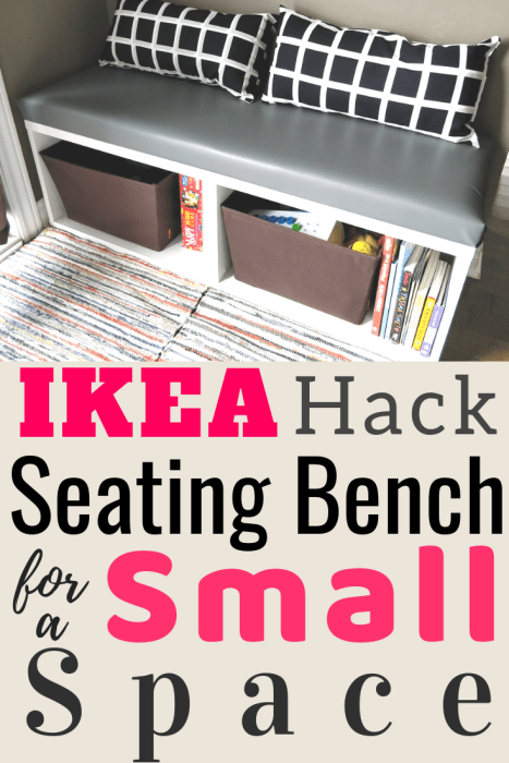 Ikea besta hack seating bench for small spaces