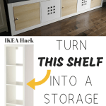 Ikea Kallax Hack Turn Bookshelf Into A Seating Bench With Storage Diy