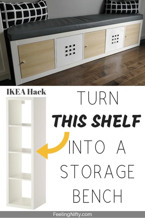 ikea storage bench hack