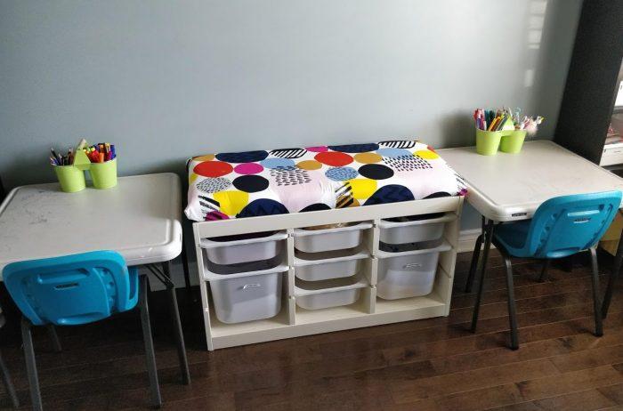 ikea trofast hack kids storage bench material