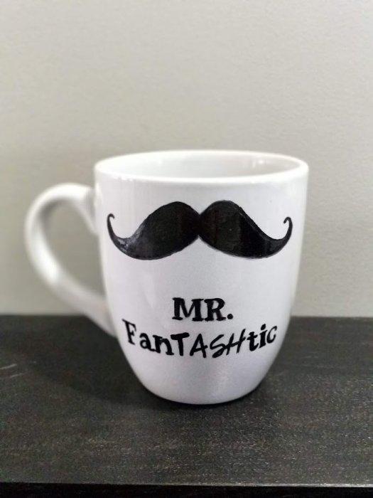 DIY sharpie MAn Mug Gift