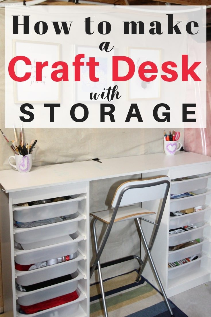 Pleasing Amazing Ikea Craft Table Hack Made Out Of 2 Storage Shelves Download Free Architecture Designs Embacsunscenecom