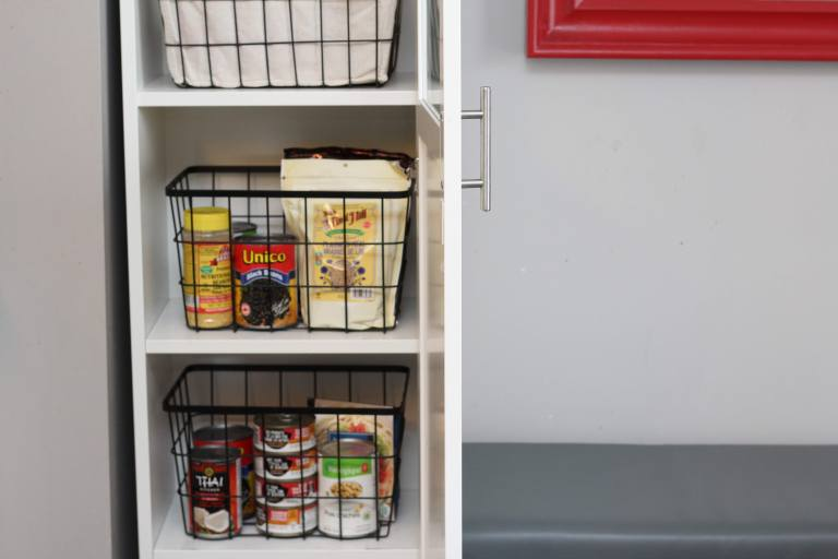ikea pantry cupboard hack