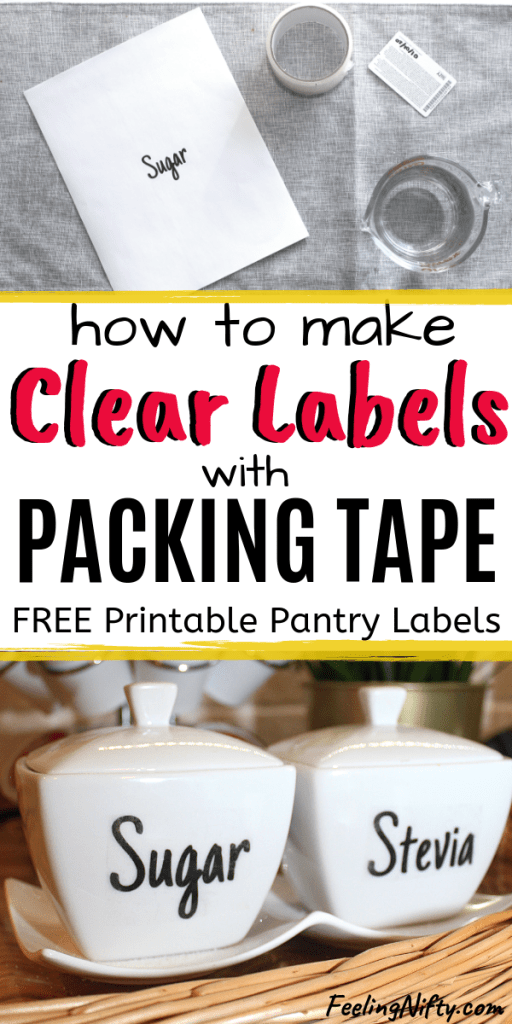 The Easiest Way to Make Clear Stickers - DIY Clear Labels