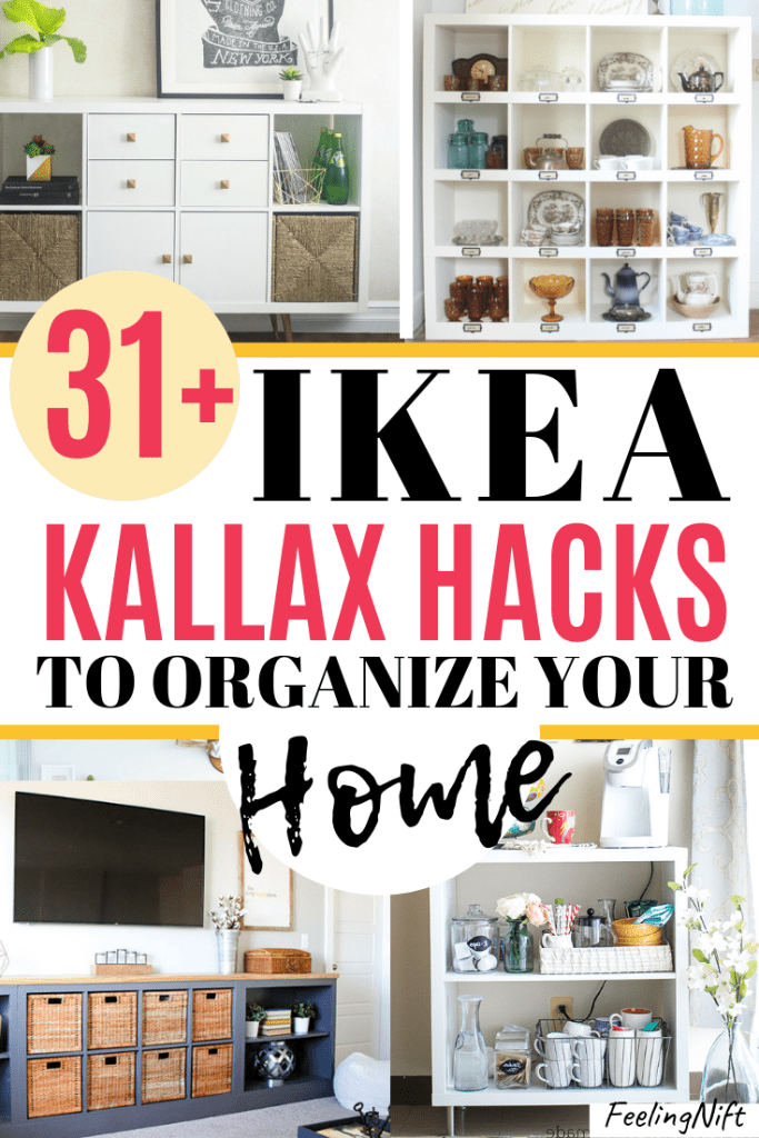 ikea kallax hacks with storage