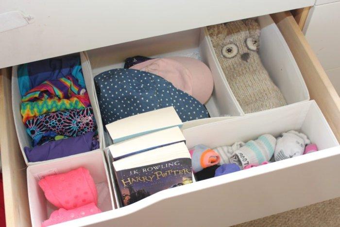 ikea organization drawers konmari