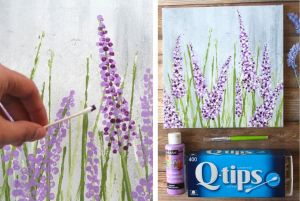 how to make lavender painting in acrylics