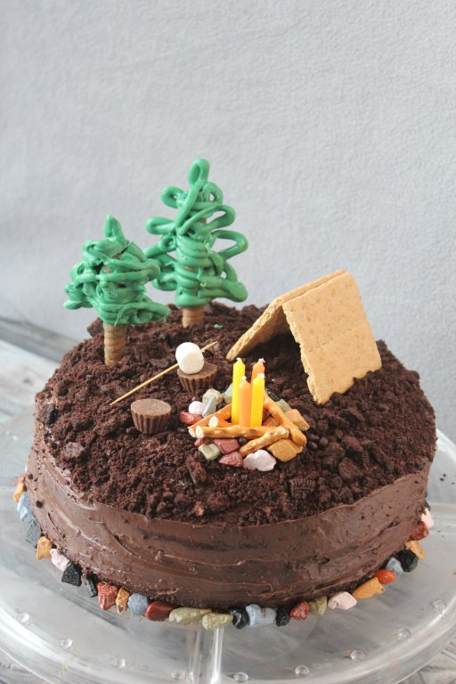 camping cake decorations