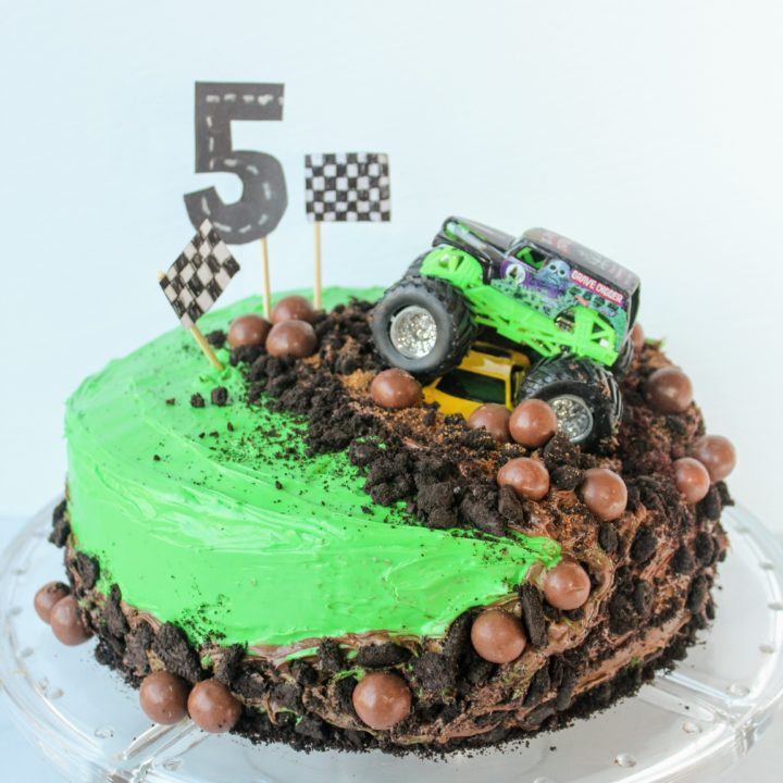 How To Make A Monster Truck Cake The Easiest Cake You Ll Ever Make