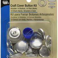 Dritz 114-36 Craft Cover Button Kit with Tools, Size 36 - 7/8-Inch, 14-Sets