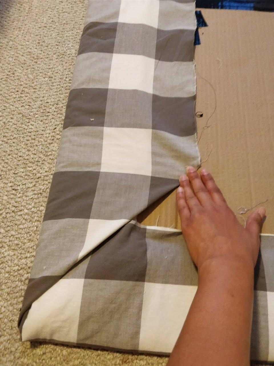 DIY headboard upholstered corners