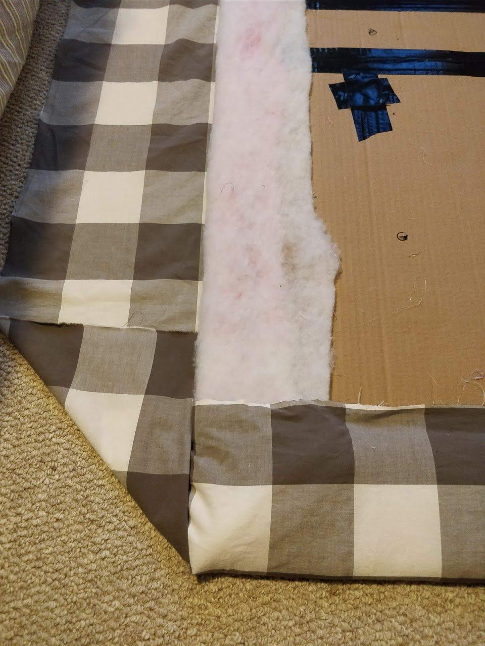 diy headboard fabric upholstered corners