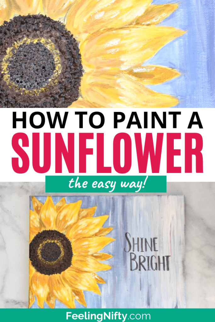 how to paint sunflower