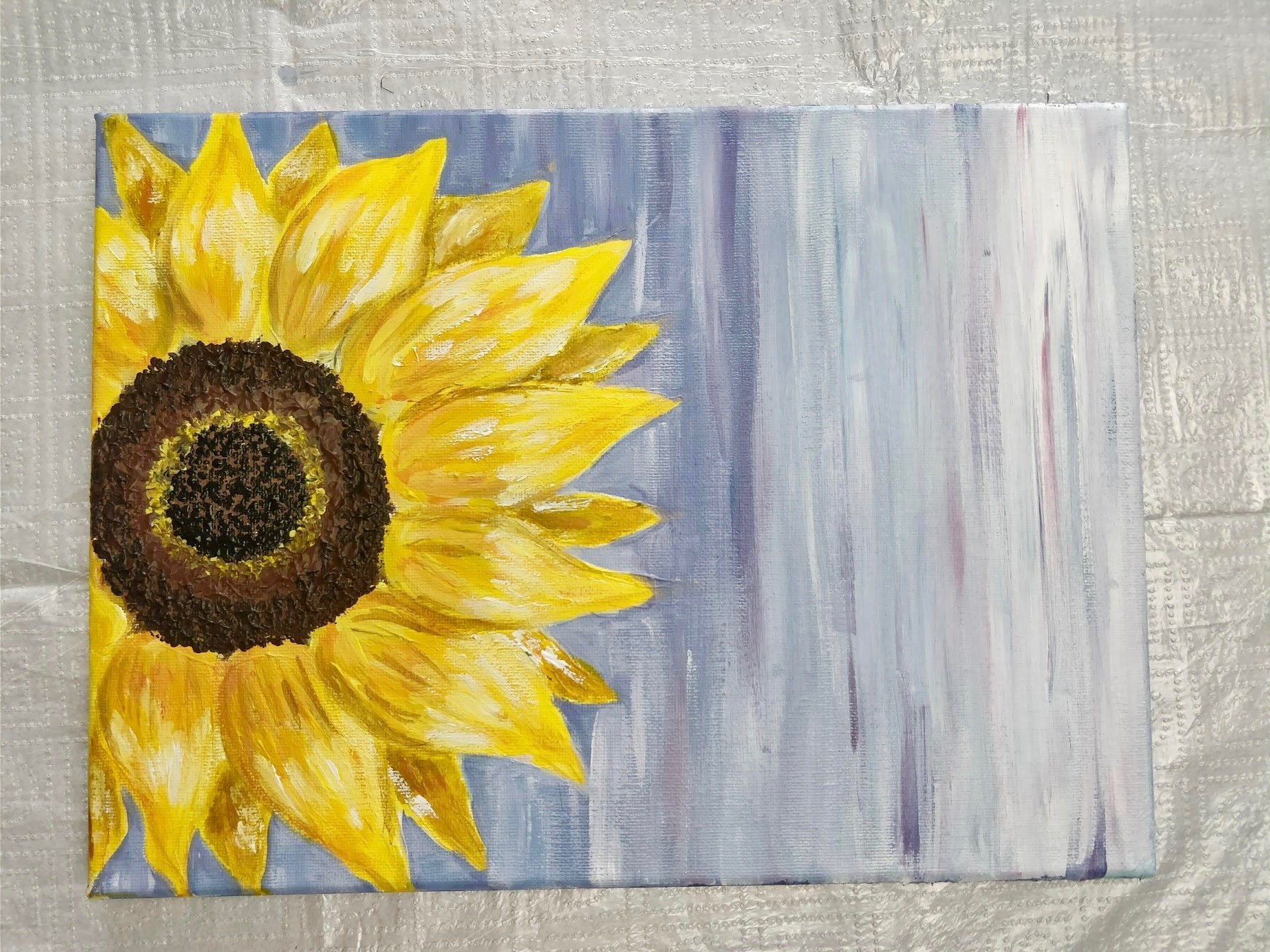 how to paint flowers in acrylic for beginners