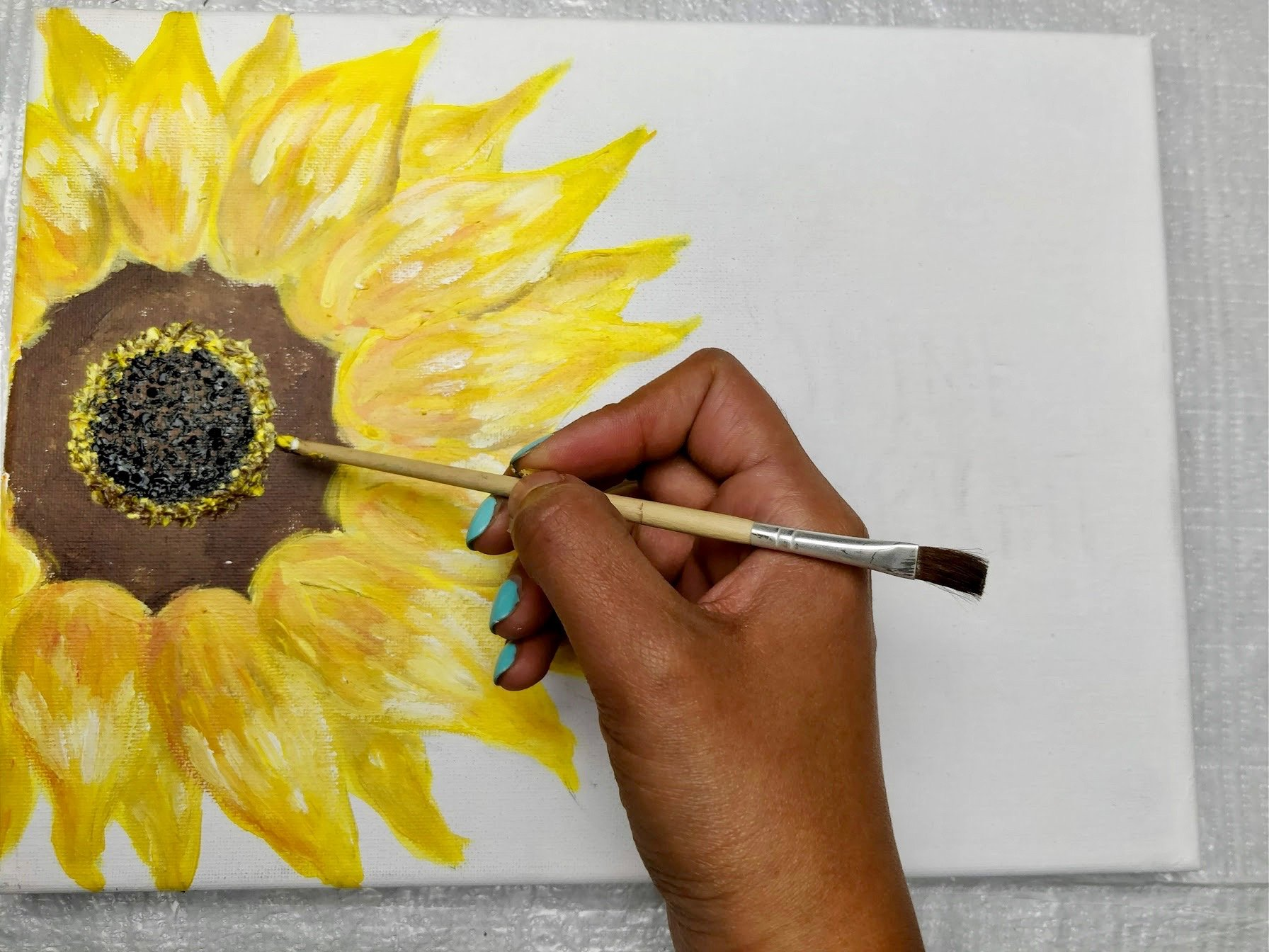 painting of flowers easy