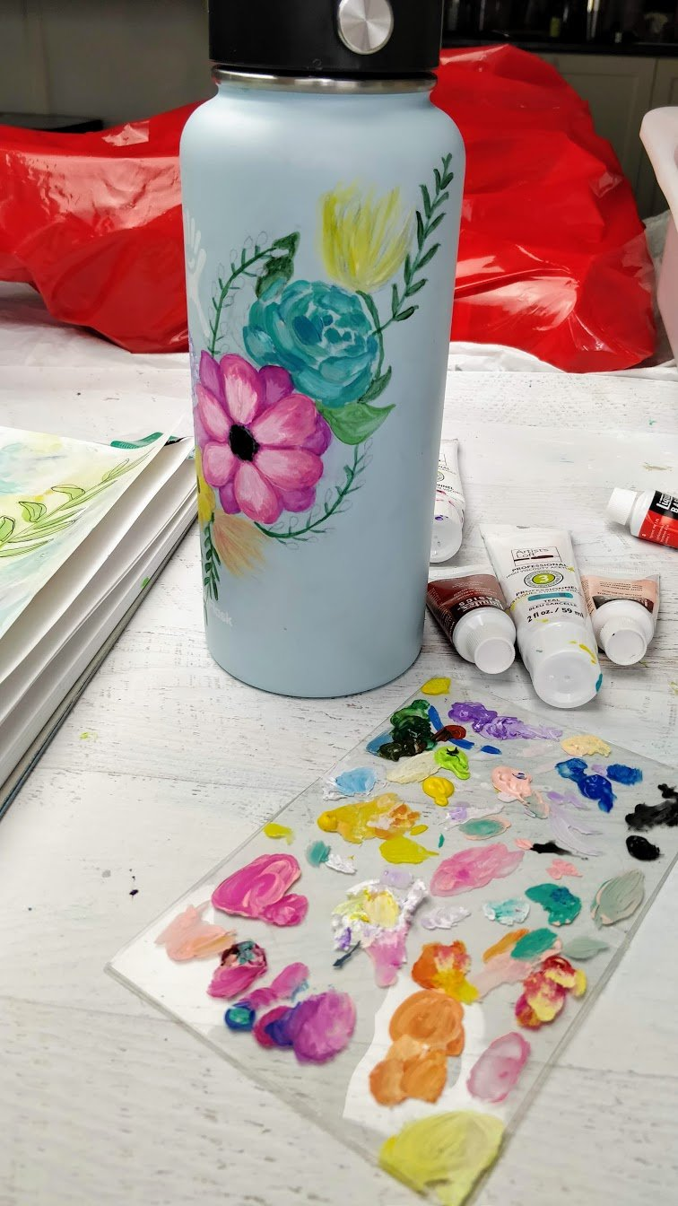 DIY Hydro flask painting