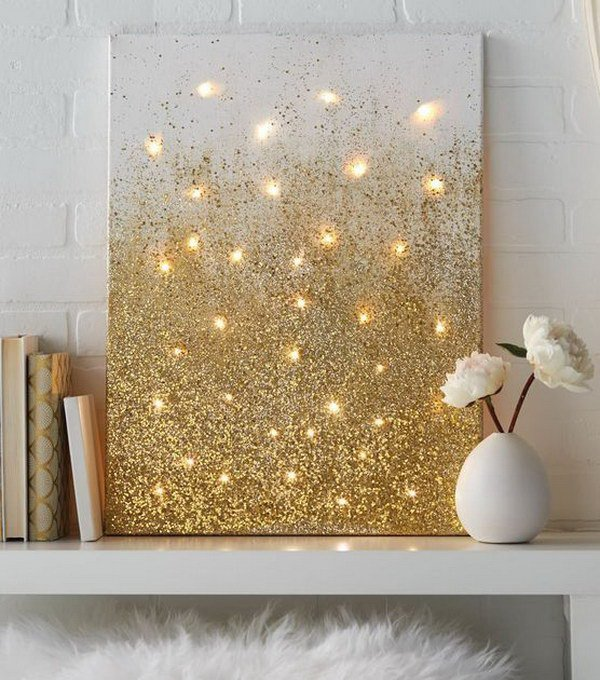 Lighted Canvas Christmas Wall Decor