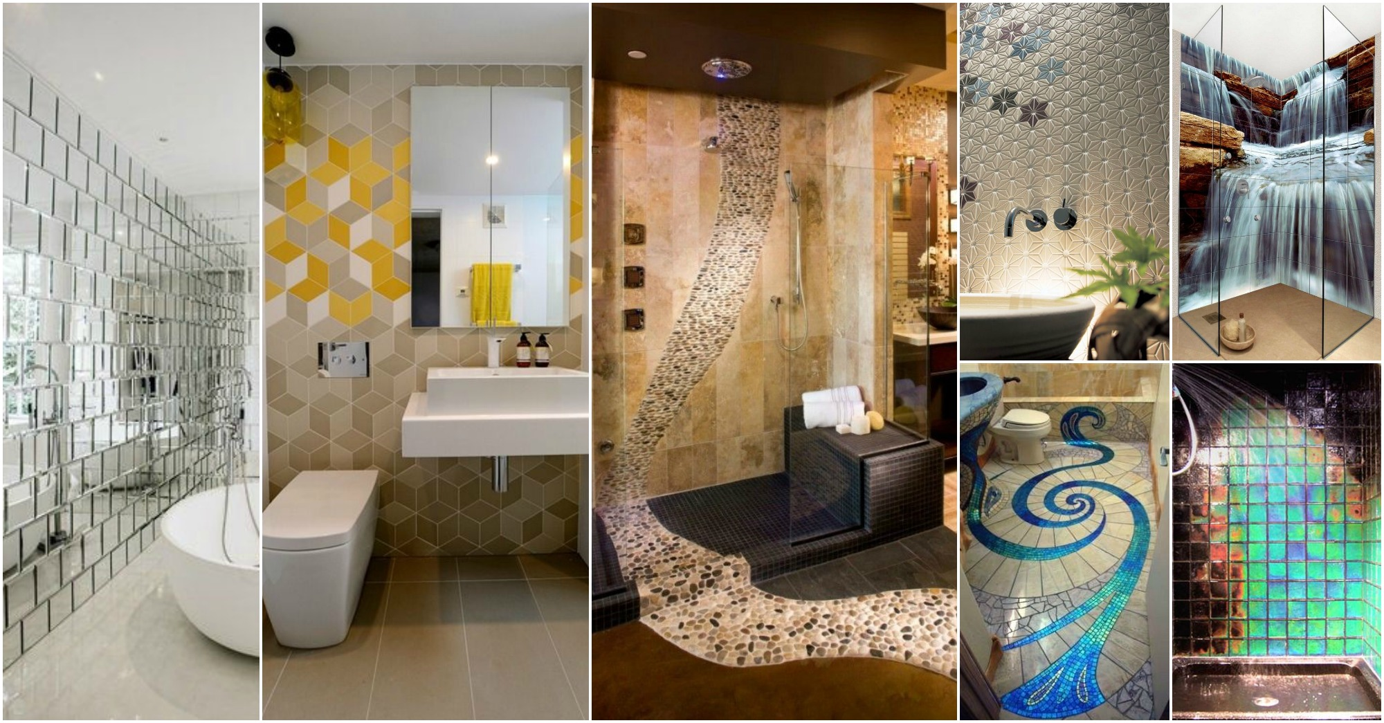 Wonderful & Cool Bathroom Tiles That Will Grab Your Attention